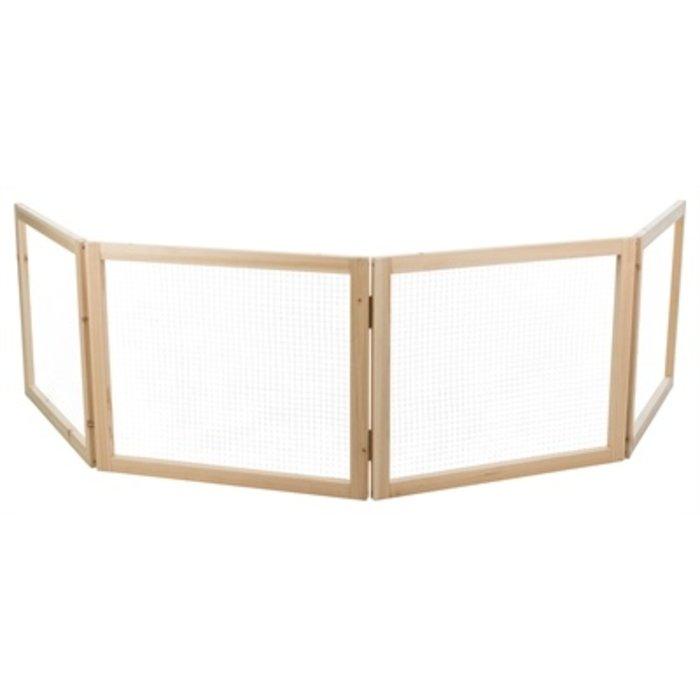 Trixie indoor ren 4 panelen hout