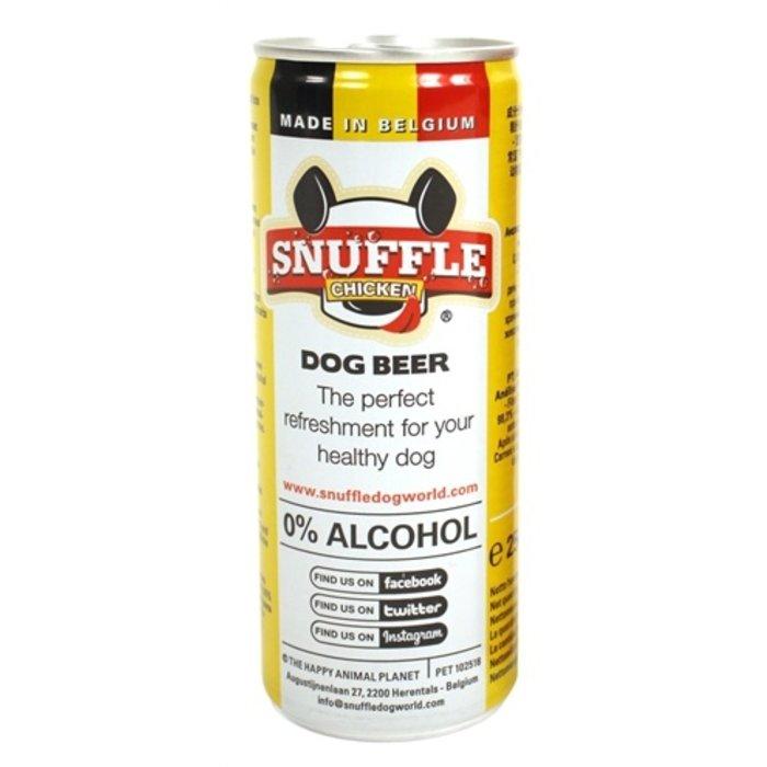 Snuffle hondenbier kipsmaak in blik