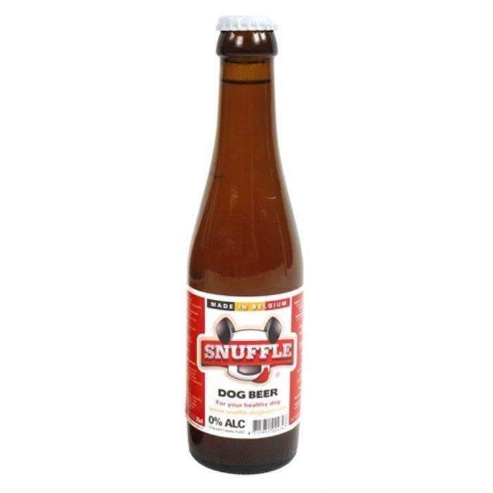 Snuffle hondenbier rundsmaak in glazen fles