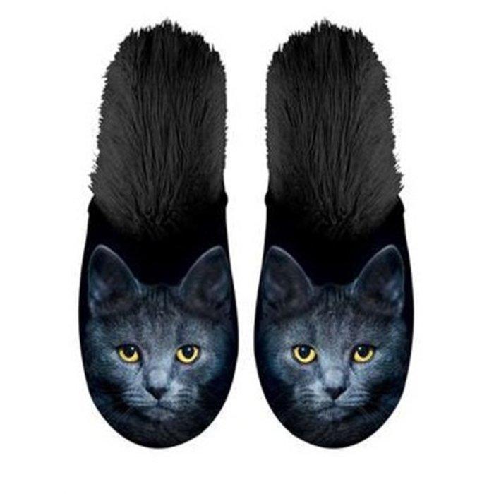 Plenty gifts pantoffel kat zwart
