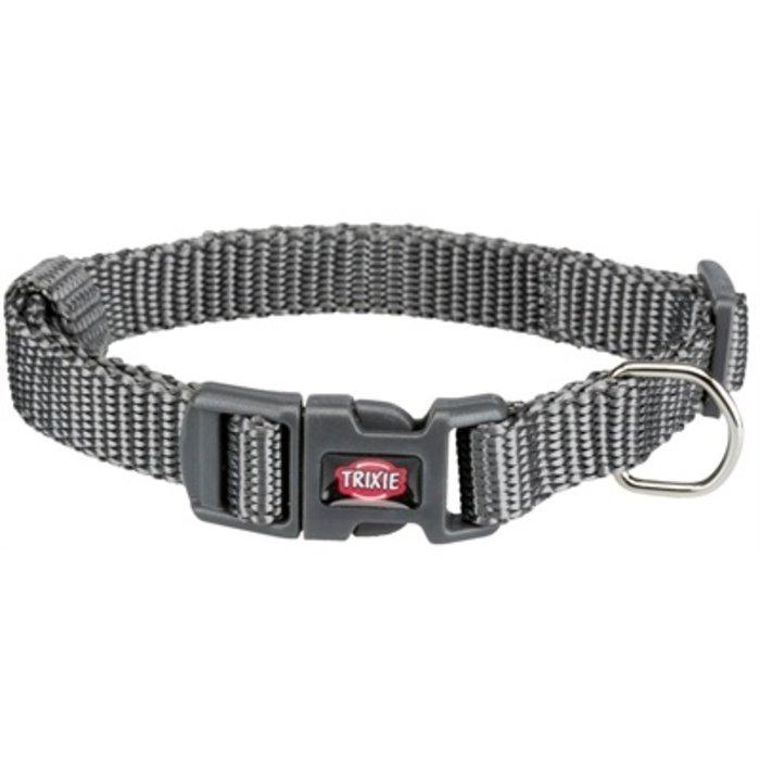 Trixie premium halsband hond grijs