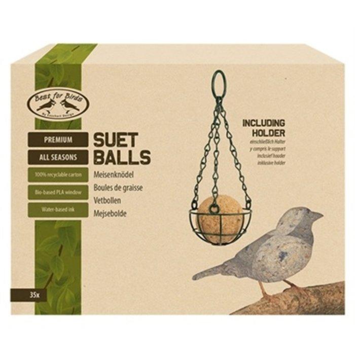 Best for birds 4-seizoenen vetbollen inclusief houder