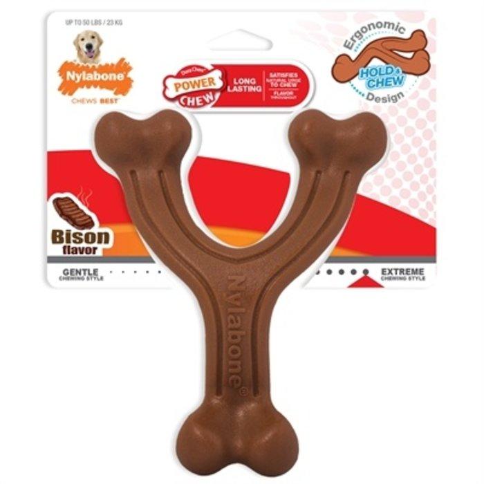 Nylabone extreme chew wishbone bison