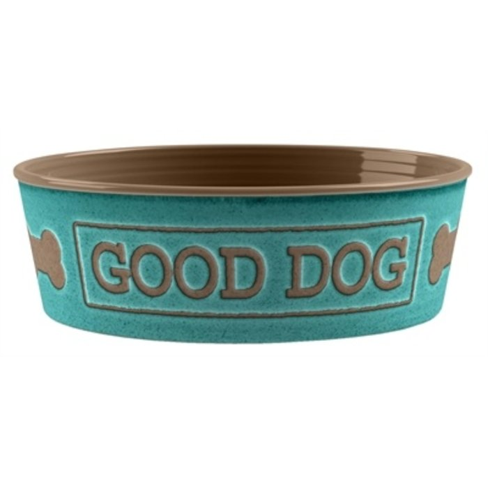 Tarhong voerbak good dog melamine turquoise