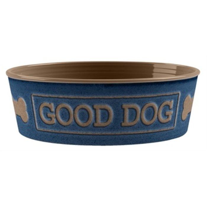 Tarhong voerbak good dog melamine indigo blauw