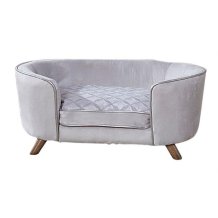 Enchanted hondenmand / sofa quicksilver zilverkleurig