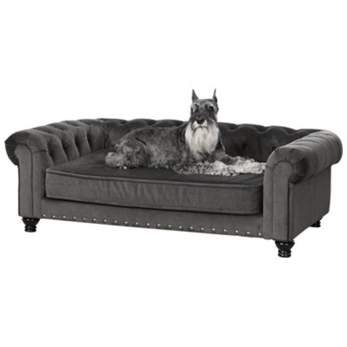 Enchanted hondenmand / sofa wentworth charcoal grijs