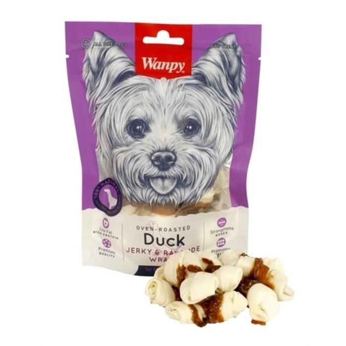Wanpy oven-roasted duck jerky / rawhide wraps