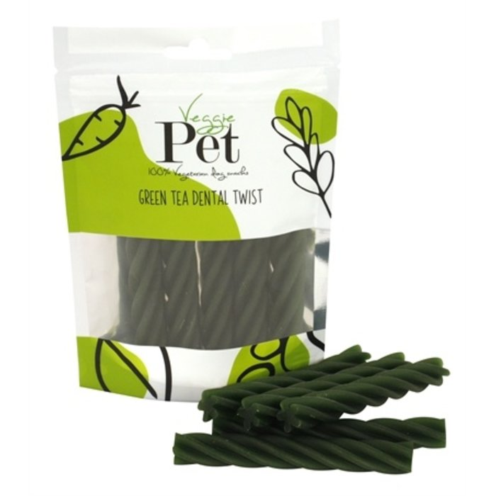Veggie pet green tea dental twist