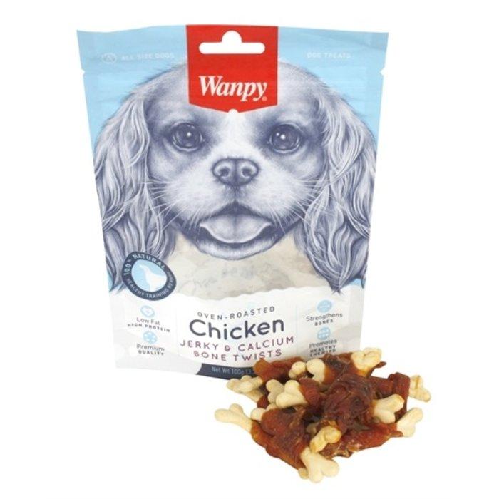 Wanpy oven-roasted chicken jerky / calcium bone twists