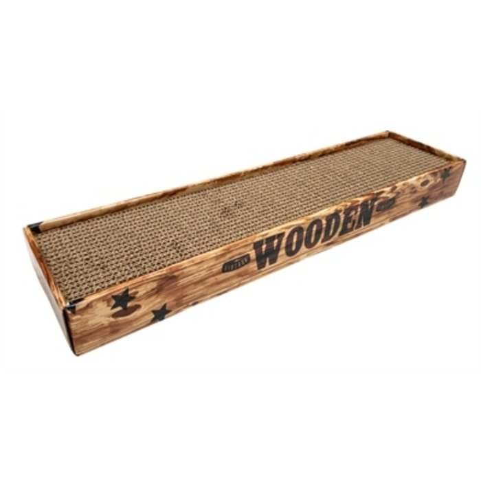 Croci krabplank homedecor noce houtprint bruin