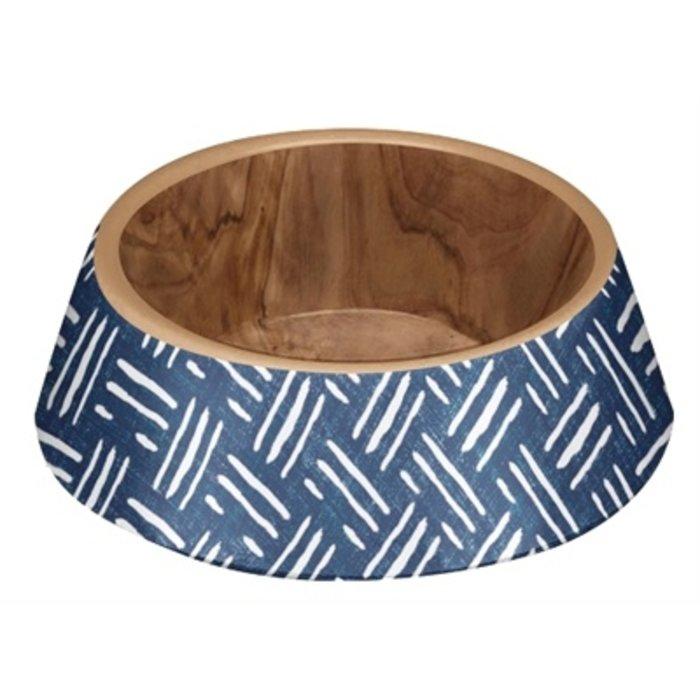 Tarhong voerbak hond oasis melamine indigo blauw