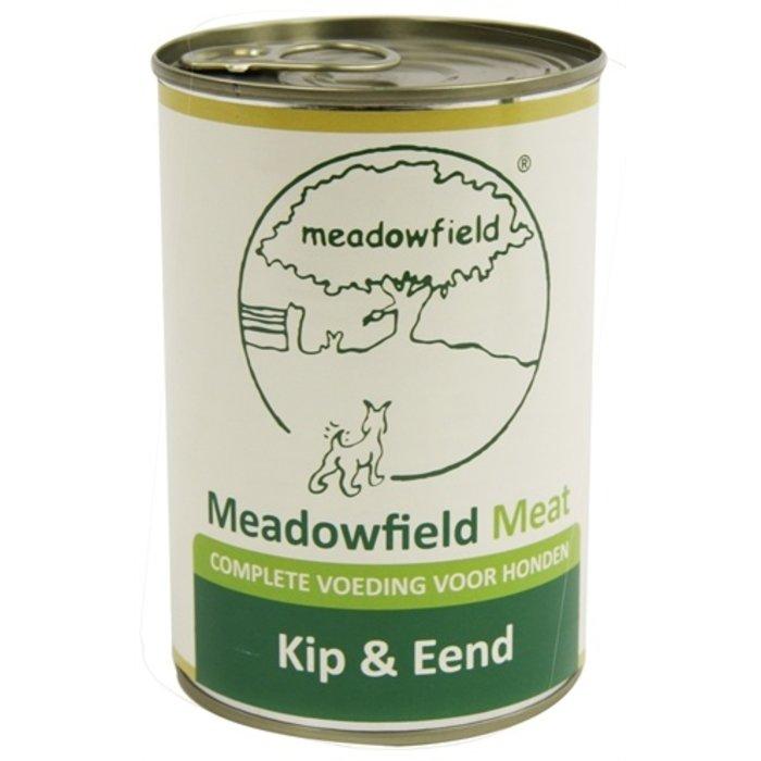 Meadowfield meat blik kip / eend