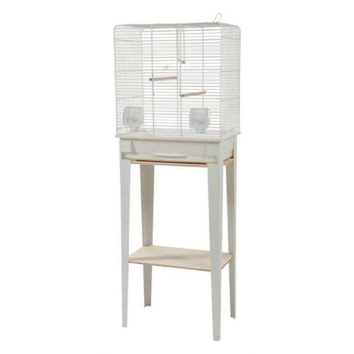 Zolux vogelkooi chic loft met meubel wit