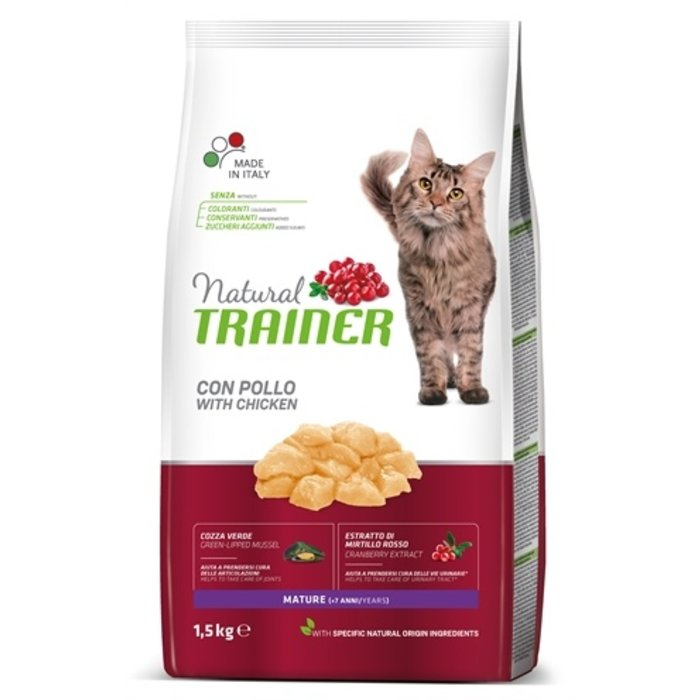 Natural trainer cat mature chicken