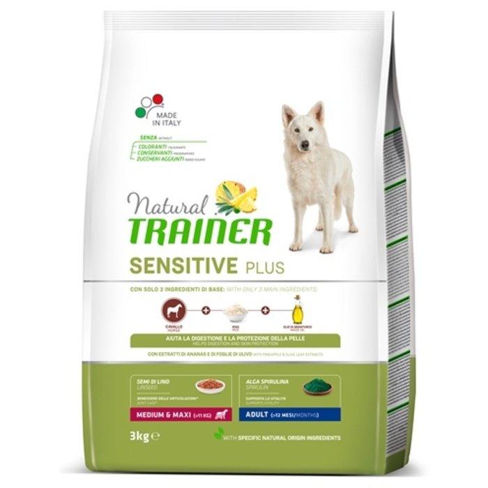 Natural trainer dog adult medium / maxi sensitive plus horse