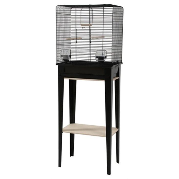 Zolux vogelkooi chic loft met meubel zwart