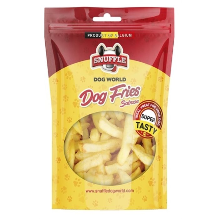 Snuffle dog fries salmon