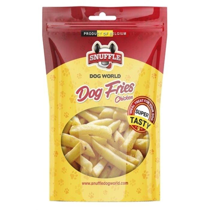 Snuffle dog fries chicken