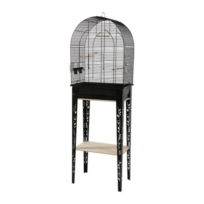 Zolux vogelkooi patio met standaard zwart