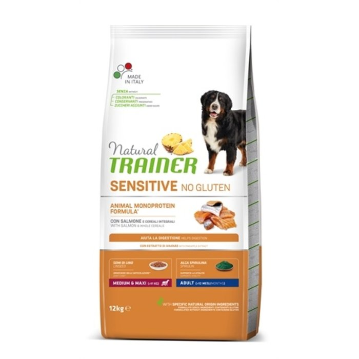 Natural trainer sensitive adult medium zalm glutenvrij