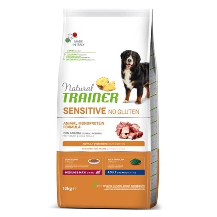 Natural trainer sensitive adult medium eend glutenvrij