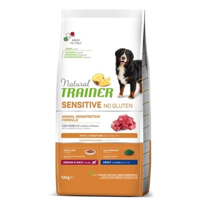 Natural trainer sensitive adult medium lam glutenvrij