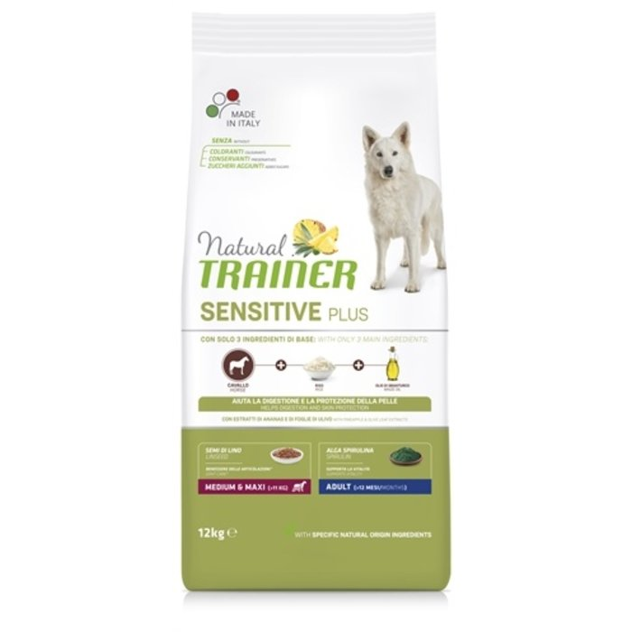 Natural trainer sensitive plus adult medium paard
