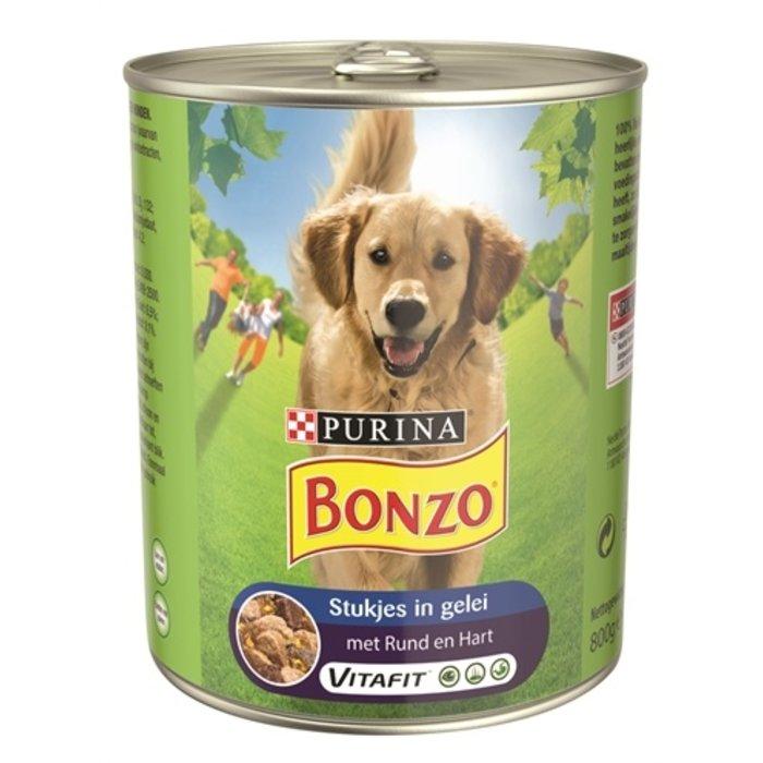 12x bonzo blik stukjes in gelei rund / hart