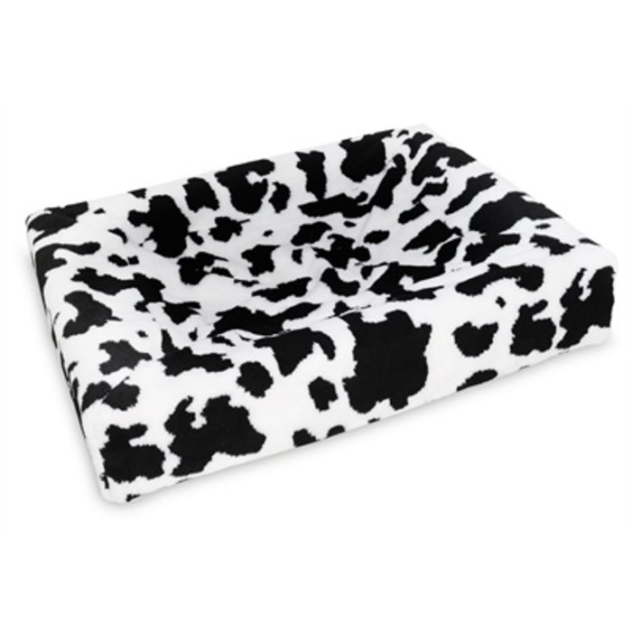 Bia bed fleece overtrek hondenmand black / white