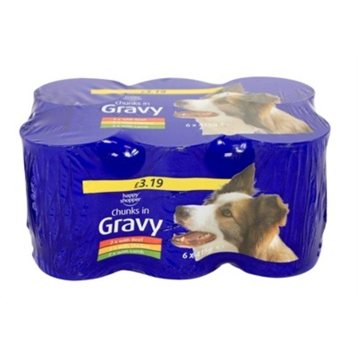Blik hond in saus assorti