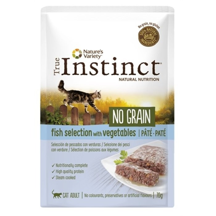 True instinct pouch no grain adult fish pate