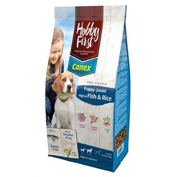 Hobbyfirst canex puppy/junior brocks rich in fish & rice