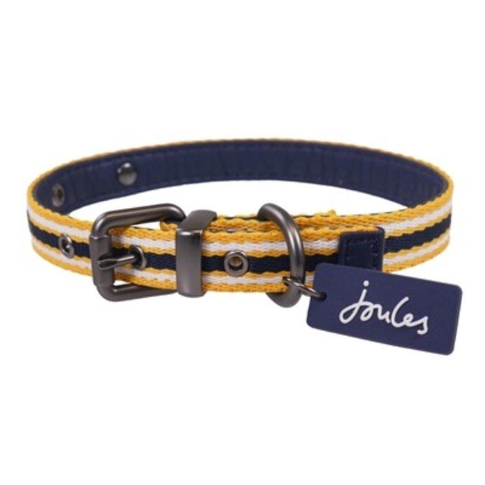 Joules halsband hond coastal navy / geel