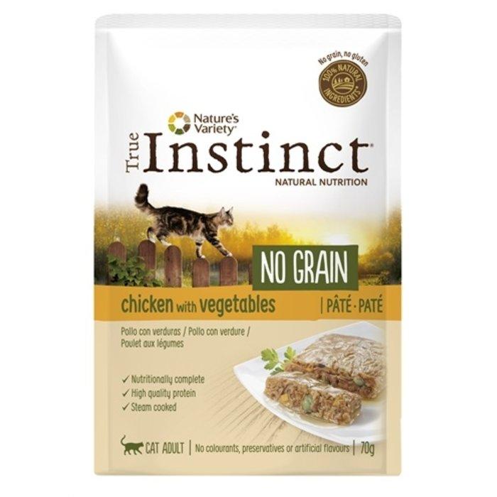 True instinct pouch no grain adult chicken pate