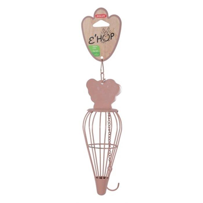 Zolux ehop hooiruif wortel met hanger roze