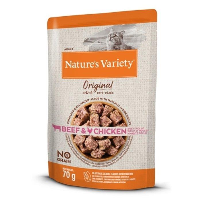 Natures variety original pouch beef / chicken