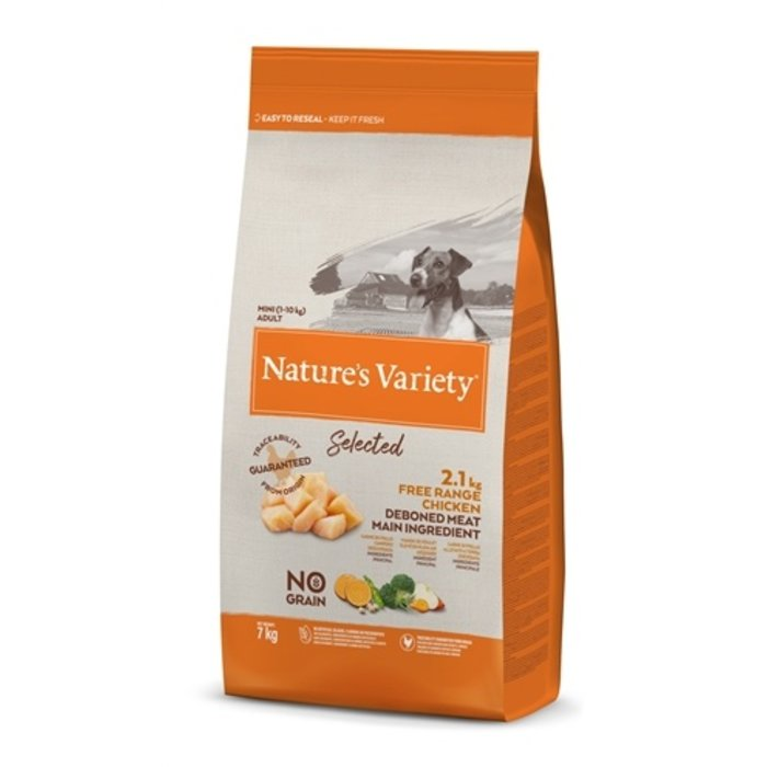 Natures variety selected adult mini free range chicken