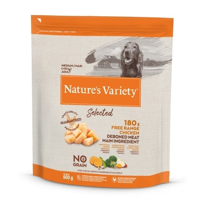 Natures variety selected adult medium free range chicken