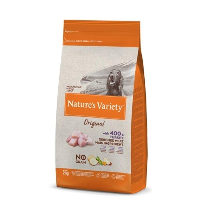 Natures variety original adult medium / maxi turkey no grain