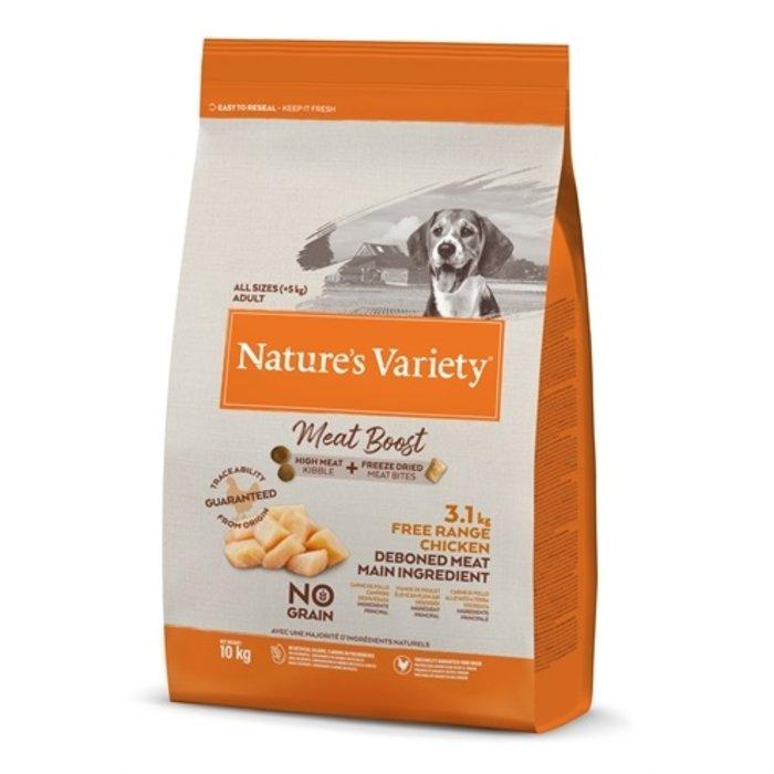 Natures variety meat boost free range chicken