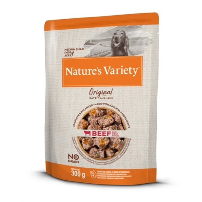 Natures variety original adult medium / maxi pouch beef no grain