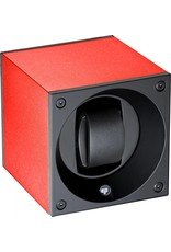 Swiss Kubik Watchwinder alu red