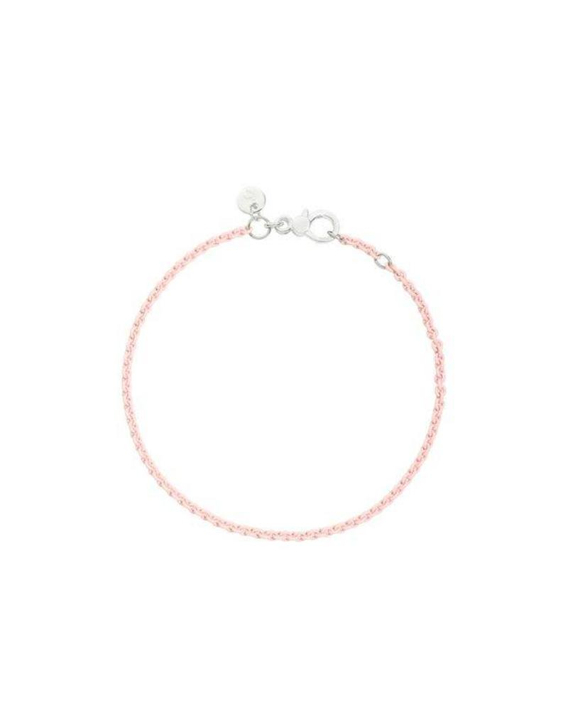 DoDo Armband Pastel Pink zilver
