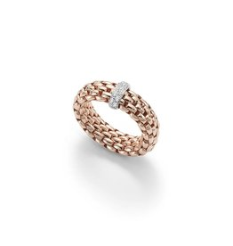 Fope Ring flex'it Vendôme rood goud