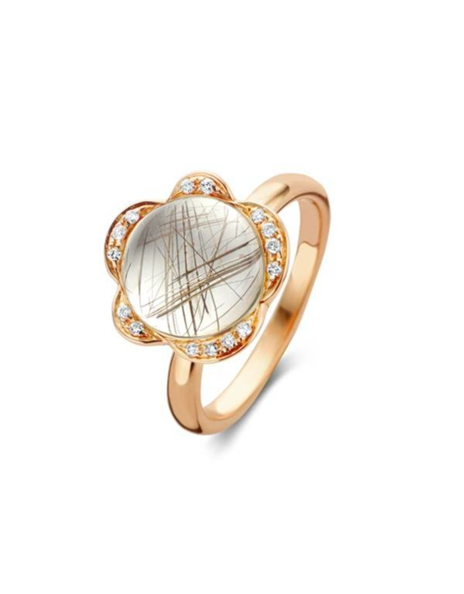 Bigli Ring Lilly Bloom rutielkwarts