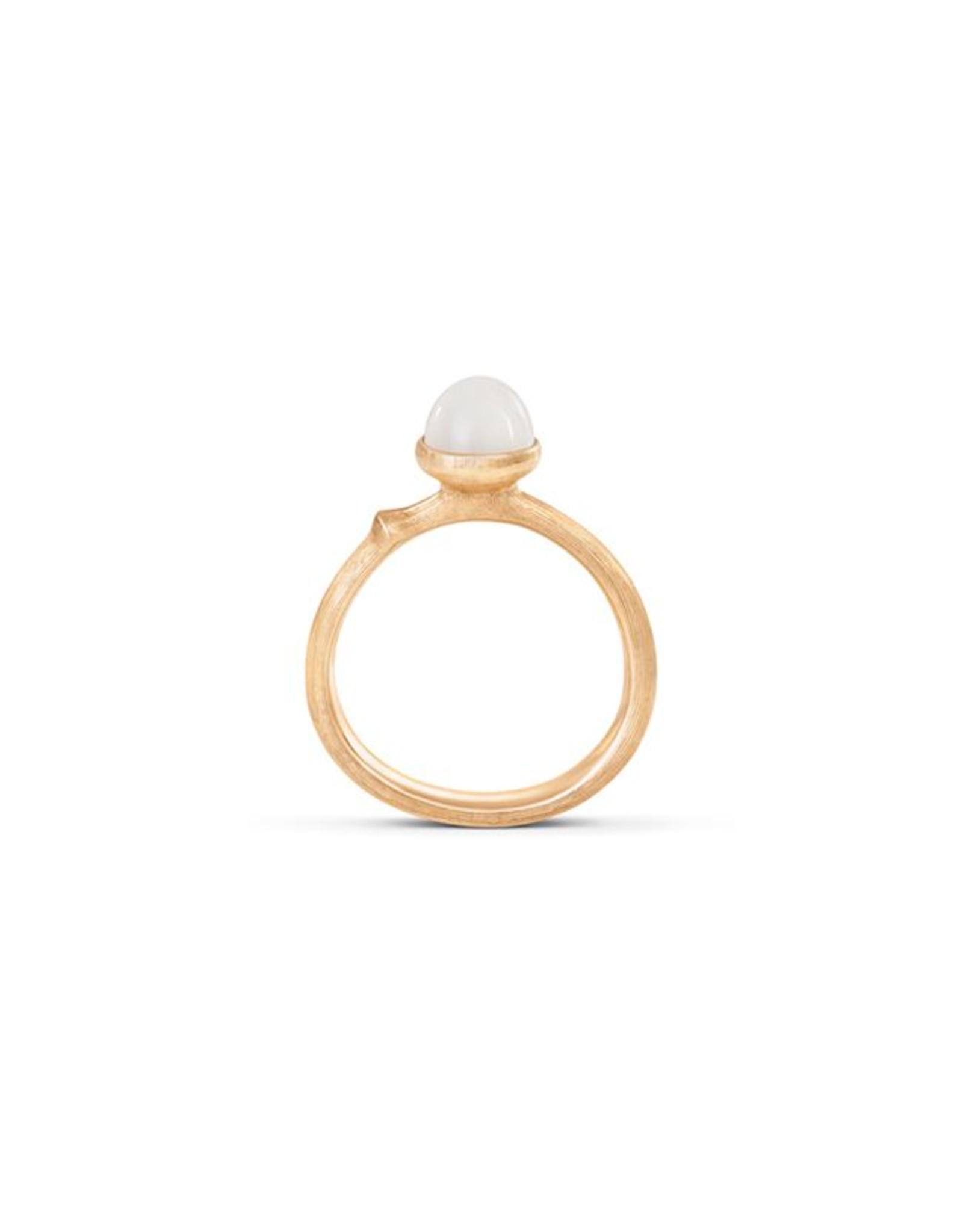Ole Lynggaard Ring Lotus nr. 0 witte maansteen