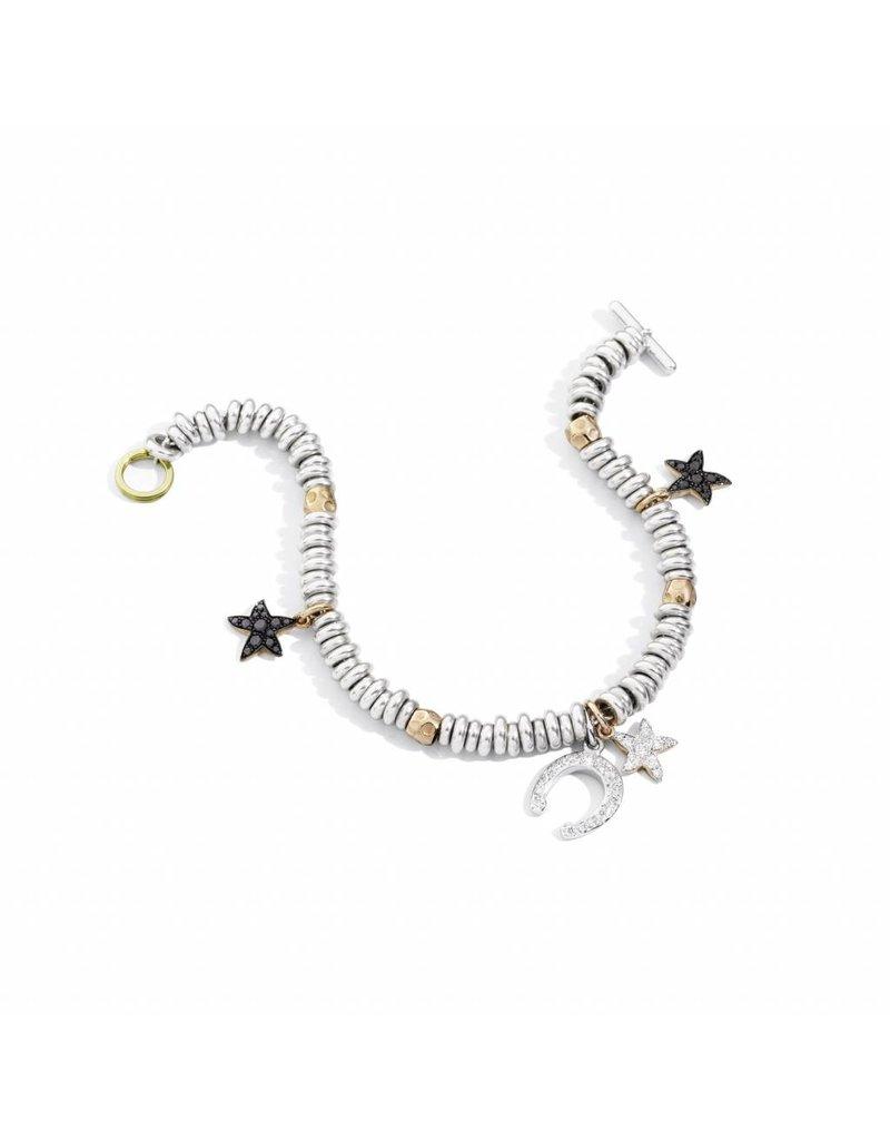 DoDo Armband met zilveren ringlets