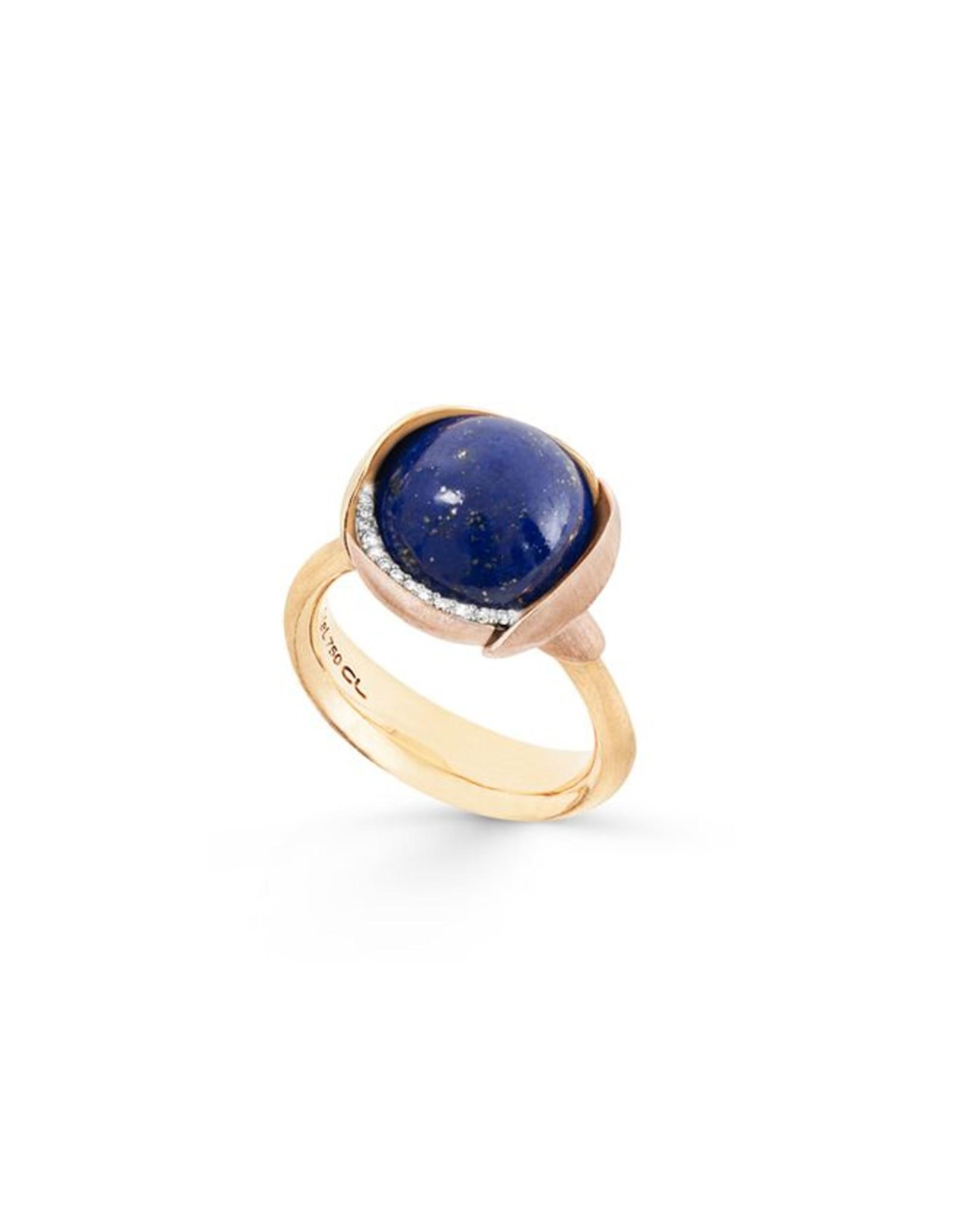 Ole Lynggaard Ring Lotus nr. 3 lapis lazuli