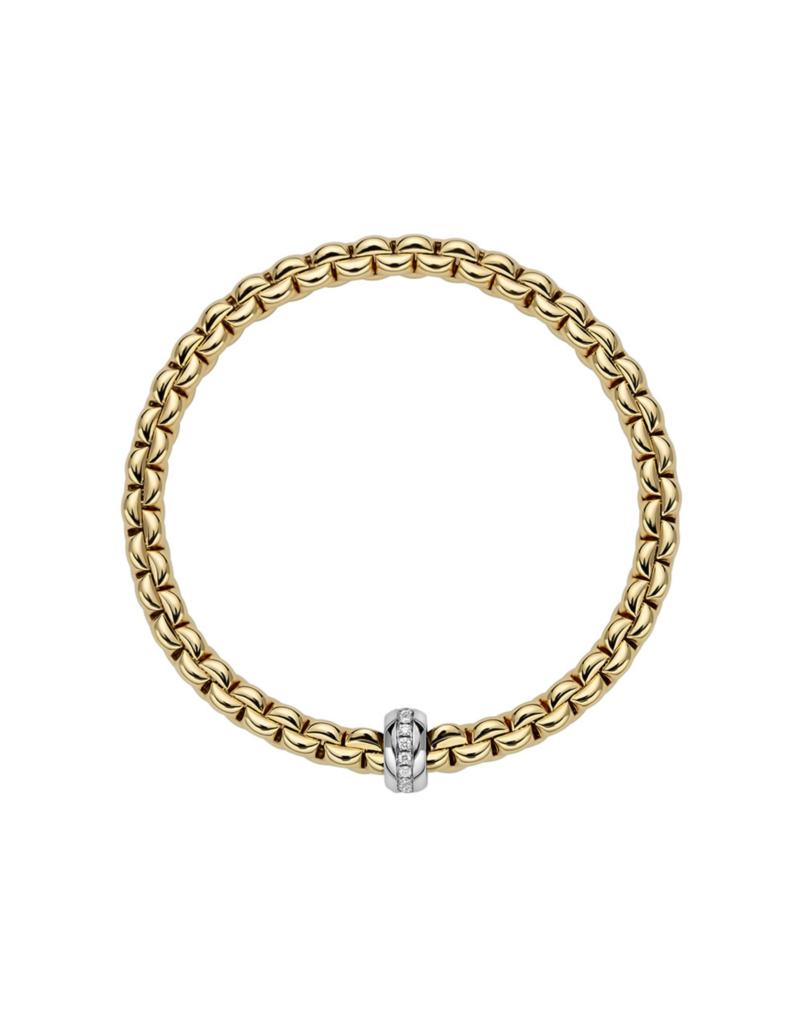 Fope Armband flex'it Eka geel goud